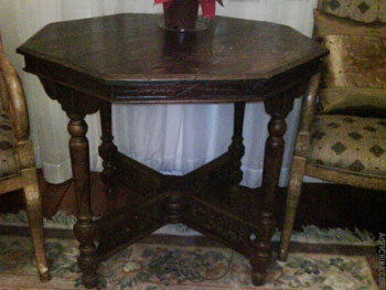 improperly repaired antique Chinese table